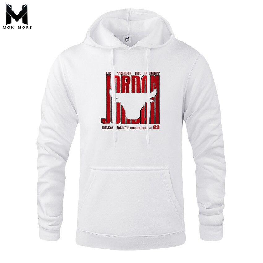 Mens Hoodies Wild-Jordan-Print Seatshirts Long-Sleeve Cotton Fashion Casual Large-Size