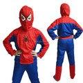 Бесплатная доставка детская Хеллоуин костюм человек-паук колготки костюм детей Фантазии одежда