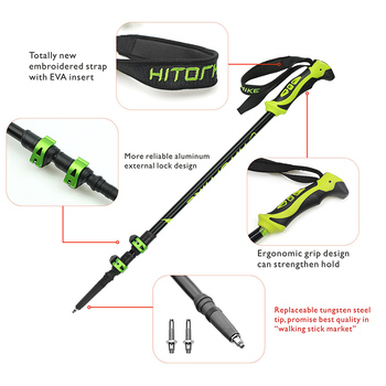 Hitorhike for nordic walking stick