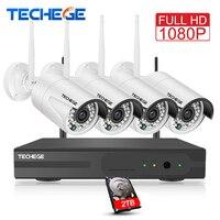 4CH Surveillance 1080P NVR 4pcs 1080P WIFI IP Camera 2 0MP CCTV Camera 4CH CCTV System
