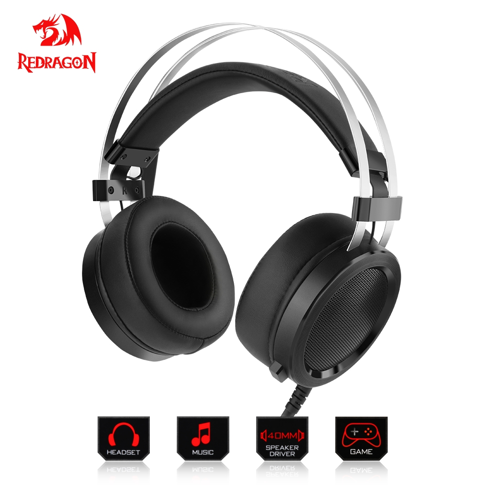 Redragon H901 Gaming Headphones Headset Deep Bass Stereo wired gamer Earphone for PC Laptop computer teamyo n2 computer stereo gaming headphones earphones for mobile phone ps4 xbox pc gamer headphone with mic headset earbuds