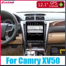 ZaiXi Android Car Multimedia GPS For Toyota Camry XV50 2015~2017 Radio vertical screen tesla Video USB DAB+
