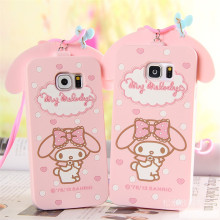 For Samsung Galaxy S6 S6Edge S7 S7Edge Note 3/4/5 Cover Cute 3D Hello Kitty My Melody Bow Cartoon Capa Soft Silicone Phone Case