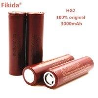 10PCS Original HG2 18650 3000mAh battery 18650 HG2 3.6V discharge 30A dedicated For LG Electronic cigarette Power battery
