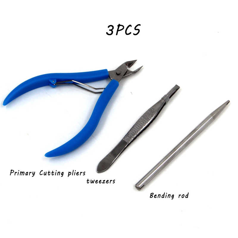 3D Logam Teka-teki Perakitan Serbaguna Alat Set Pinset Gunting Tang Hidung Panjang Pinset Rautan Pensil Gesper Bend Perangkat