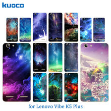 Phone Cases for Lenovo Vibe K5 Cover K5 Plus Lemon 3 A6020 Bags Starry Sky Pattern Soft TPU Silicon Capa For Lenovo A 6020 Shell(China)