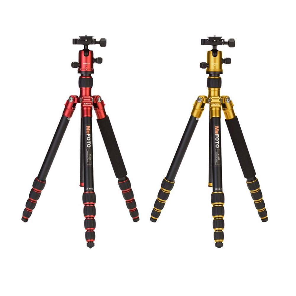 MeFOTO Three Foot Stand SLR Camera Support Portable Photography Tripod Head Aluminum Alloy