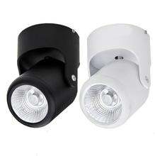 hot deal buy free shipping 10w warm cold white dimmable cob downlights 180 degree rotation surface mounted ceiling spot ceiling downlight