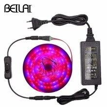 5050 LED تنمو أضواء مقاوم للماء تيار مستمر 12 فولت مصنع تزايد شريط ضوء LED مجموعة مع السلطة والتبديل لالدفيئة حوض السمك