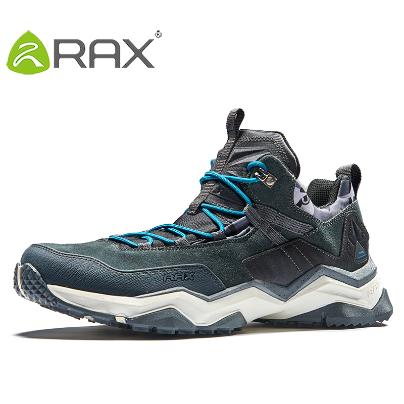 2017 RAX Mens Waterproof Hiking Shoes Sneakers Breathable Hiking Boots Men Trekking Shoes Outdoor Boots Men Outdoor Sports Shoes rax 2015 mens outdoor hiking shoes breathable mesh suede trekking shoes men genuine leather sneakers size 39 44 hs25