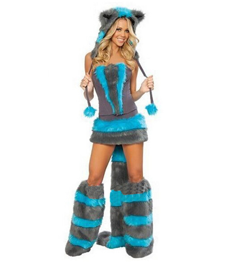MOONIGHT Blue Teddy Panda Wolf Girl costumes for Halloween costumes cat ladies clothing exports in Europe and America games