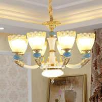 Candelabro de cerámica Moderno y lujoso lámpara colgante de cerámica para comedor Sala dormitorio pasillo entrada