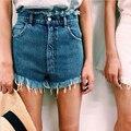 Буэнос-Ниньо старинные мыть синий/белые джинсы шорты высокой талией карманы four seasons шорты плюс размер XS-L 40