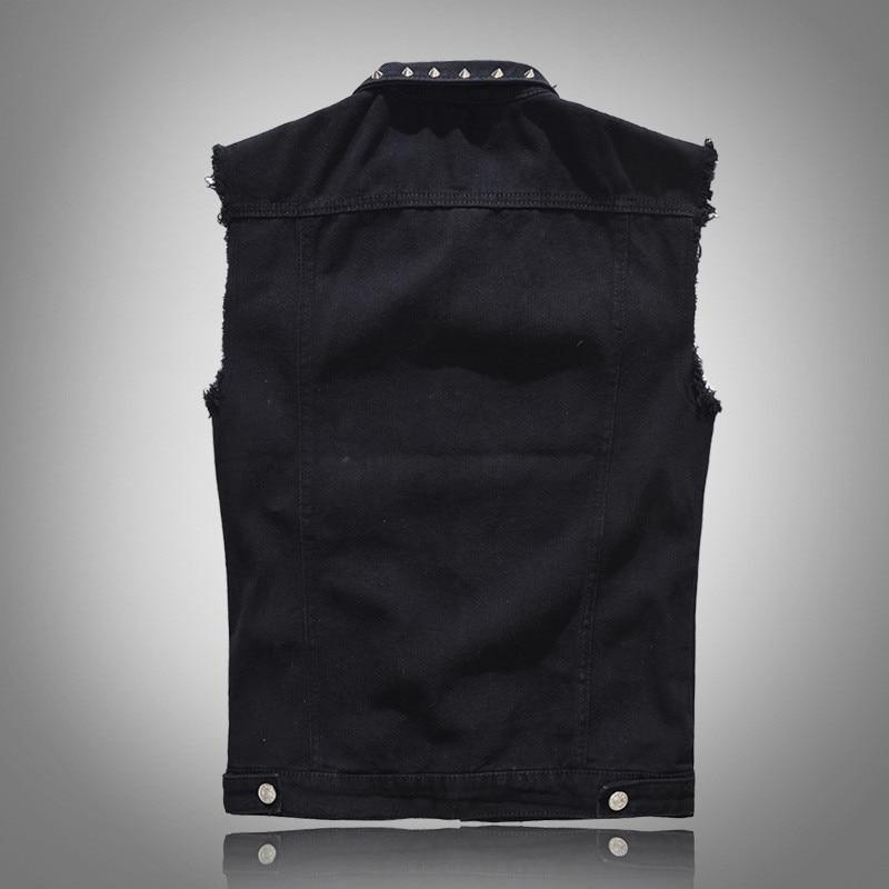 SHIFUREN ינס Vest גברים של פאנק רוק סגנון מסמרת קאובוי שחור חזייה ... 6dc871a12830