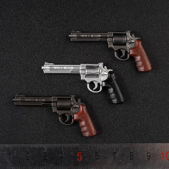 1:6 Finished M&P Revolver Gun Weapon Model 12 Inch Action Figure Accessories Soldier Figure Scene 6 Stypes
