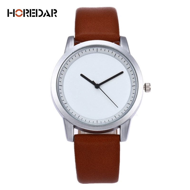 Fashion Simple Women Watches Unisex Casual Watch 2017 Top Fashion Leather Quartz Wristwatch Famous gift Clock Hot top fashion simple classic style famous brand quartz watch women casual leather watches men hot clock reloj mujeres