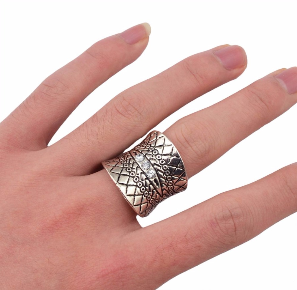 1PC Silver Plated Punk Vintage Ring Womens Retro Elephant Finger ...