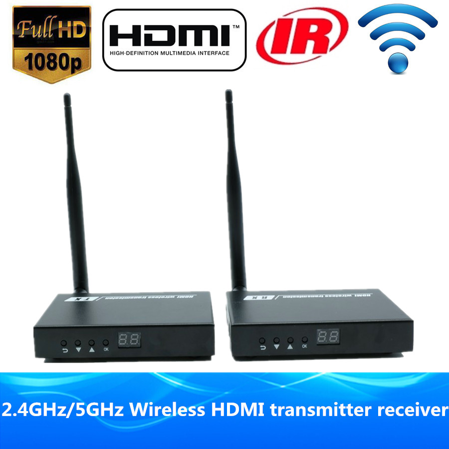 HD Video Audio Transmission HDMI Wireless Transmitter font b Receiver b font HDMI Sender Wireless Extender