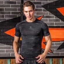 Мужская футболка с коротким рукавом, топ для занятий спортом на открытом воздухе, Быстросохнущий тренировочный топ для похудения, топ для бега FN16