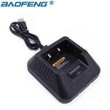 Baofeng UV-5R USB Настольная база Батарея Зарядное устройство для pofung UV5R UV-5RE DM-5R dm5r плюс литий-ионный Зарядное устройство CB радио Walkie Talkie