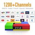 Nueva IPTV Tv Box Android 6.0 Fuerte wifi Bluetooth y 1 Año QHDTV 1200 Europa Francés Español Árabe Canales de IPTV 2 GB DDR3 Tv Box