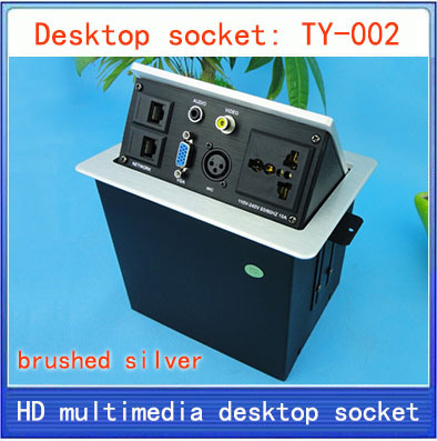 Desktop socket /hidden multimedia information box outlet /network RJ45 3 PIN XLR VIDEO AUDIO VGA interface desktop socket TY-002 цена 2017