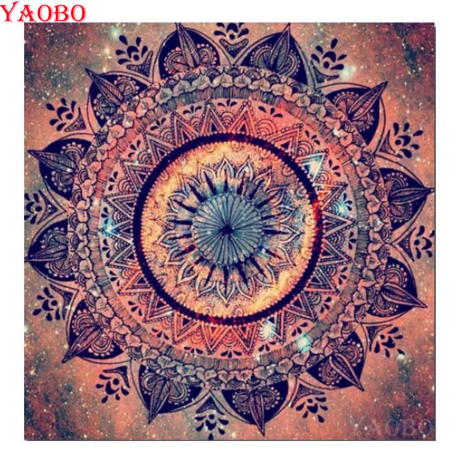 Full Square/Round Resin Drill Diamond Painting Mandala Cross Stitch 5D DIY Diamond Embroidery Mosaic Artwork Room Decoration