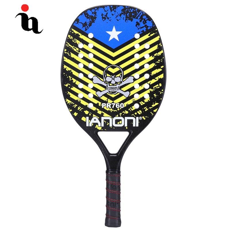 IANONI Plage Mâle Raquette De Tennis de Haute Qualité USA Shantou Modèle En Fiber De Carbone Composite EVA Graphite Professionnel Plage Raquete