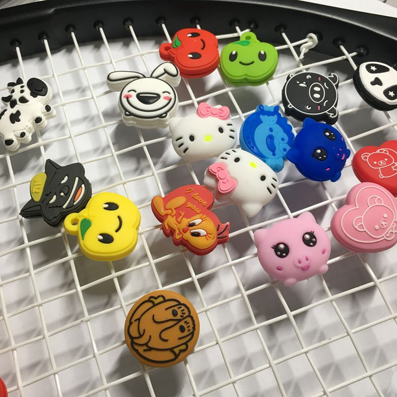 (50 יח'\חבילה) מגוון סוגים חמודים dampeners רטט מחבט טניס, טניס באיכות Dampener הלם מנחת, אביזרי טניס