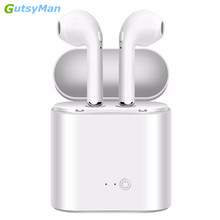 hot deal buy gutsyman i7s tws mini bluetooth earphones headphones stereo bass wireless headset earbuds with charging box for all smart phones