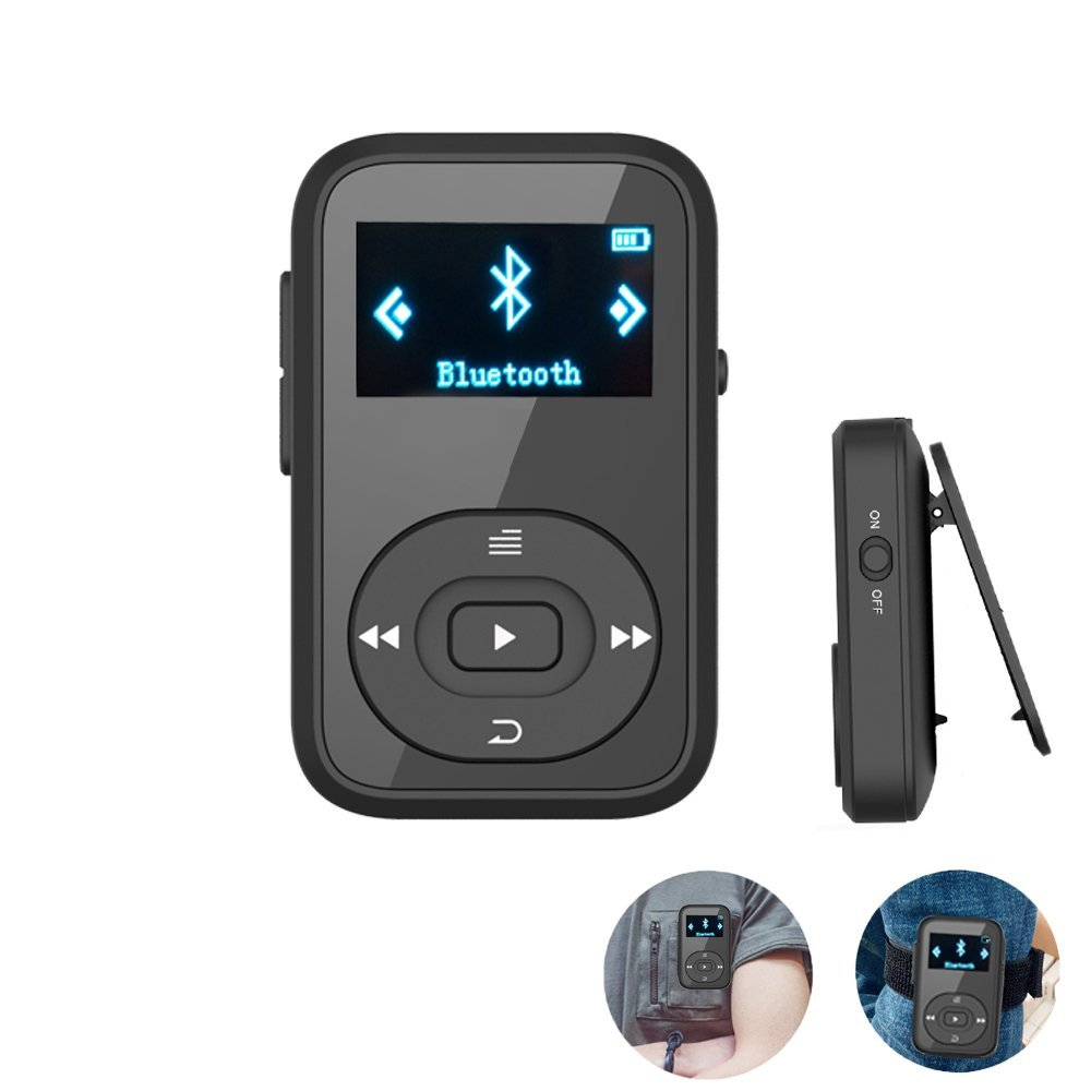 Original Mini Clip Bluetooth MP3 Player 8GB for Running Sport Folder View HIFI Sound Playback MP3 Music Player + Free Armband
