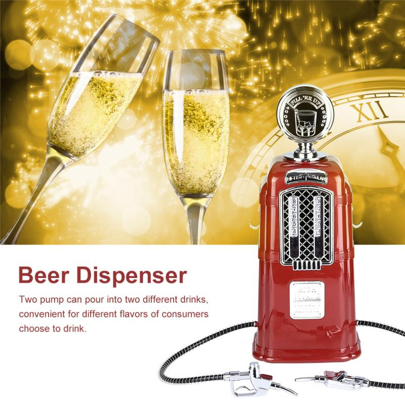 Double Guns Liquor Pump Gas Station Beer Dispenser Alcohol Liquid Soft Drink Beverage Dispenser Machine Bar