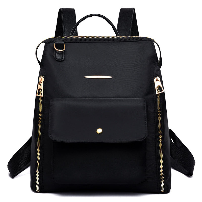 Small Women Leather Backpack For Girls Feminine Knapsack School Bags For Teenagers Rucksack Mini Backpacks Rivet Black in Backpacks from Luggage Bags