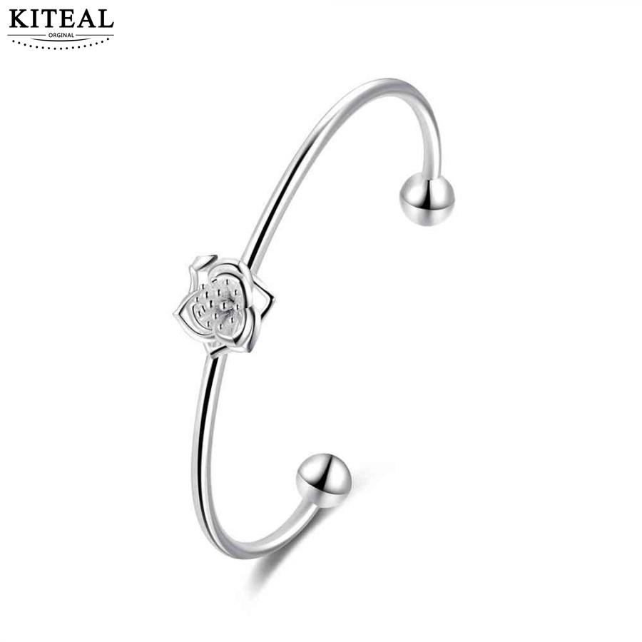 Forceful Kiteal 2018 Lovely Silver Plated Lady Charms Bangle Fireworks Flower Diameter 6cm Fireworks Pulseras Love Jade White