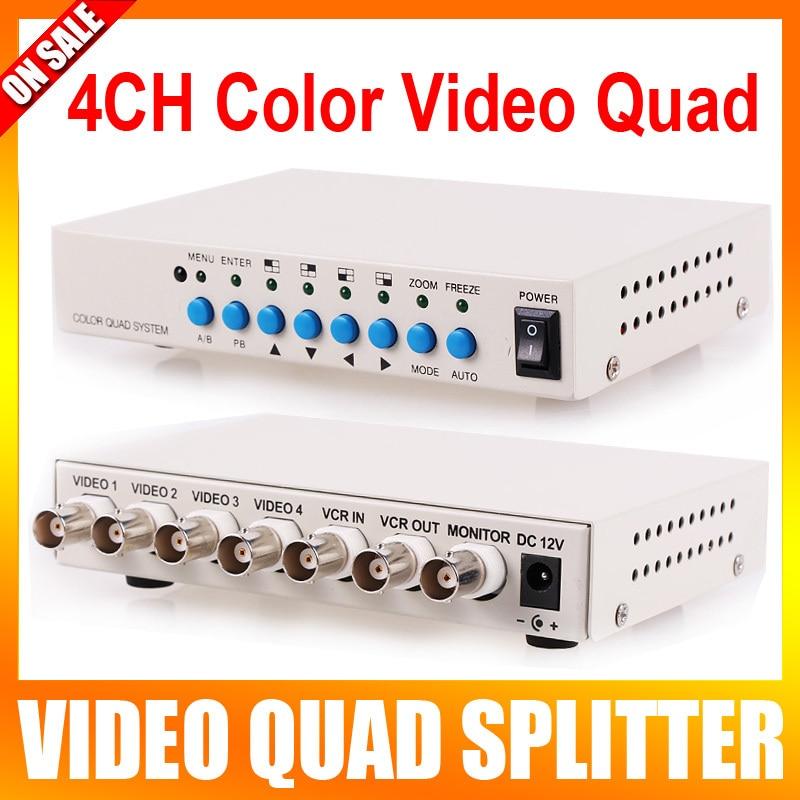 4 Channel CH Video Quad Camera Processor Switcher 4CH Color Video QUAD Processor 4 way live production switcher video mixer four channel ntsc pal video switch cmx109