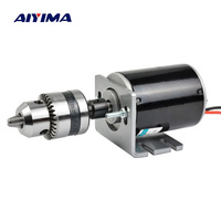 AIYIMA Micro DC 12V 24V Motor 30W 3500 7000rpm High Speed Hollow Shaft Motors Positive And Negative Large Torque For Drill Rigs