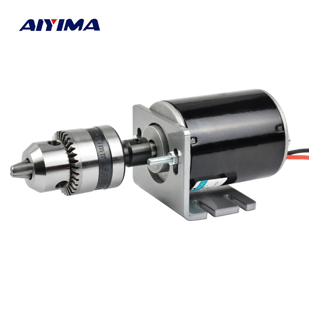 цена Aiyima Micro DC 12V 24V Motor 30W 3500-7000rpm High Speed Hollow Shaft Motors Positive And Negative Large Torque For Drill Rigs
