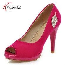 Plus size 31-43 5 Colors Size 34-39 Sexy High Heels Platform Shoes Pumps Women's Dress Fashion Wedding shoes lady crystal Pumps