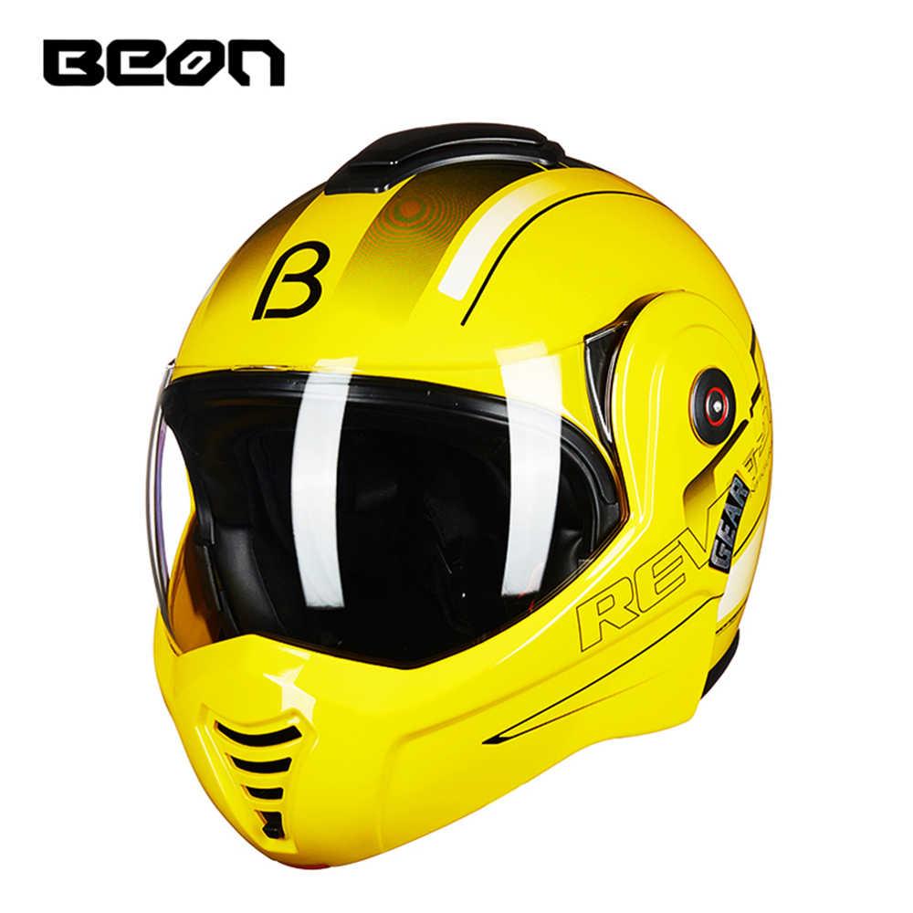 BEON мотоциклетный шлем туристический мотоциклетный шлем гоночный уличный мото Каско Для мужчин и женщин чоппер Скутер круизер Полный лицевой шлем