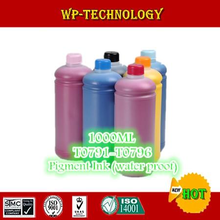 1L*6pcs  Pigment ink suit for Epson T0791   T0796 series  suit for Epson 1430W 1400W PX700W PX800FW P50 etc 1L per color|pigment ink|pigment ink for epson|ink for epson - title=