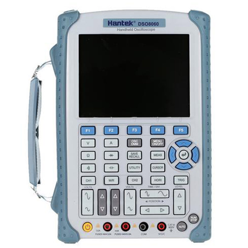 Hantek DSO8060 5 in 1 Handheld Oscilloscope DMM / Spectrum Analyzer / Frequency Counter / Arbitrary Waveform Generator  hantek dso8060 oscilloscope handheld portable digital multimeter oscilloscope usb lcd 60mhz 2 channels dmm spectrum analyzer