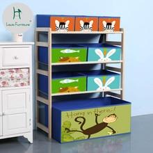 Модные детские шкафы Луи, Современные Простые удобные детские игрушки из цельного дерева, шкаф для хранения