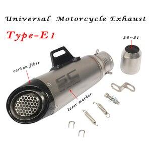 Image 5 - Tubo de Escape Universal de motocicleta de 36MM ~ 51MM, modificación de Escape, modificación de Escape, Escape de Motocross para R1 R6 R3 Z900 KTM390 K8 CBR