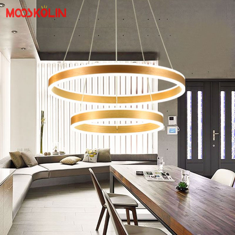 40 60 80CM Modern Led Hanging Chandeliers For Living Dining Room Kitchen Light Led Pendant Chandelier Indoor Lighting Luminaire modern crystal chandelier led hanging lighting european style glass chandeliers light for living dining room restaurant decor