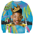 New Fashion Will Smith clothing print 3d character long shirts crewneck funny Sweatshirt Unisex Women Men harajuku sweatshirts