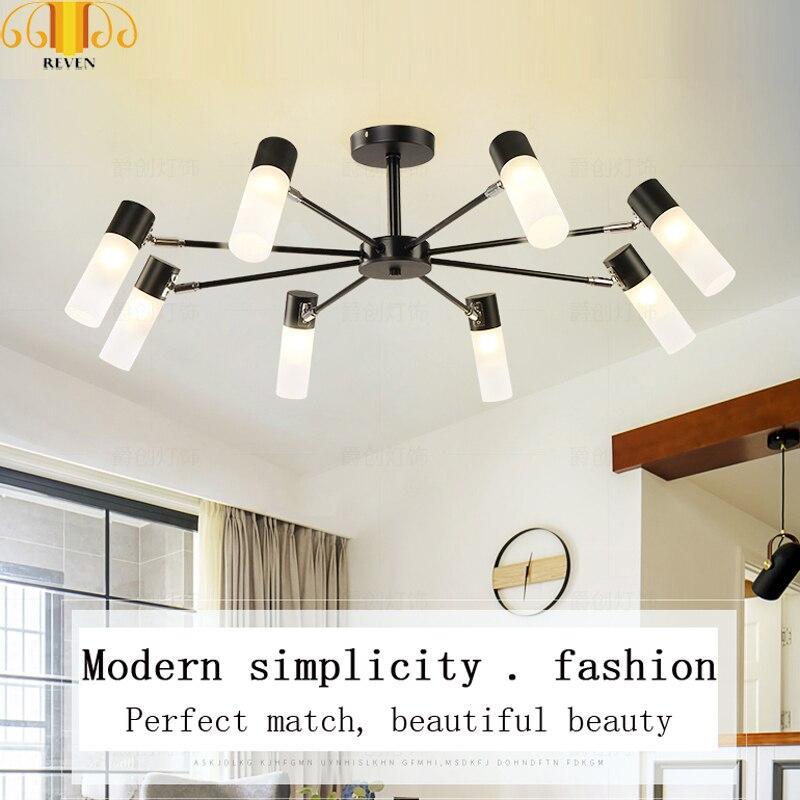 REVEN Oro Nero Moderne luci a sospensione per la sala da pranzo LED G4 lampadina