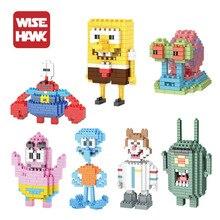 SpongeBob Diamond Building Blocks Present Gift Patrick Star Squidward Krabs Bricks Action Figures Toys Model Gift