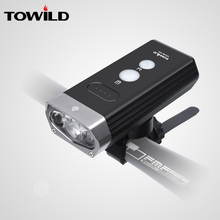 TOWILD Professional 1800 Lumens Bicycle Light Power Bank Waterproof USB Rechargeable Bike Flashlight bike accessories