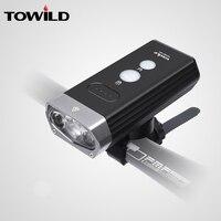 TOWILD Professional 1800 루멘 자전거 라이트 전원 은행 방수 USB 충전식 자전거 라이트 손전등 자전거 액세서리 자전거용 등    -