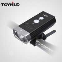 TOWILD Professional 1800 lumenów rower lekki powerbank wodoodporna lampka rowerowa ładowana na usb latarka akcesoria rowerowe